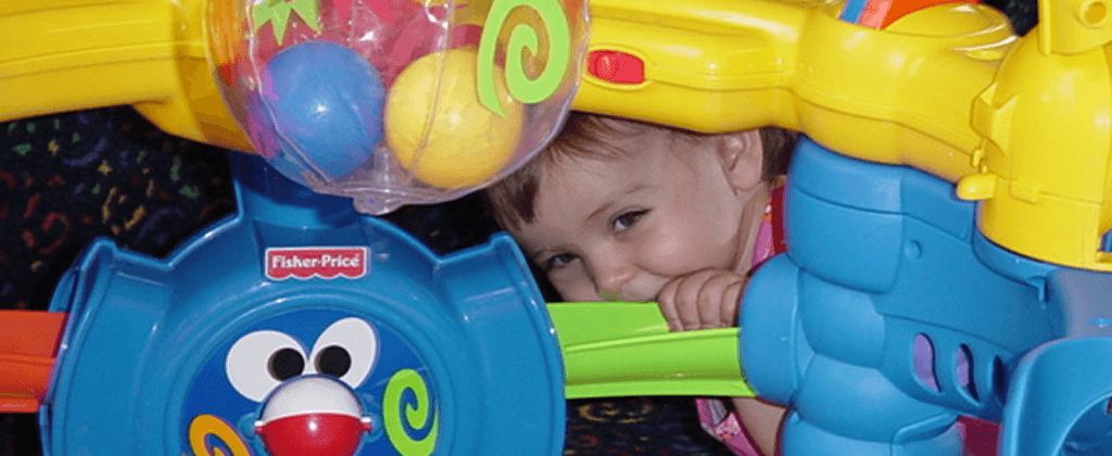 Peep-a-boo! Another fun game for infants at Halsey Schools