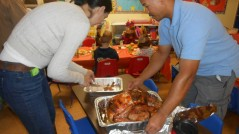 Turkey day at Halsey Schools