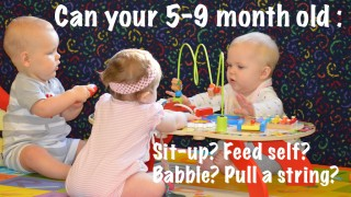Babble, situp and other things your baby should do at 5-9 months