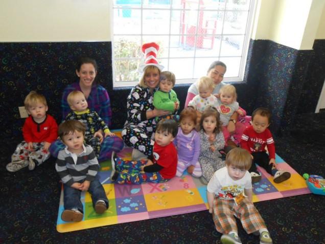 Pajama day in Woodland Hills Preschool