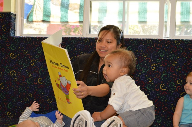 Reading together promotes language development in infants