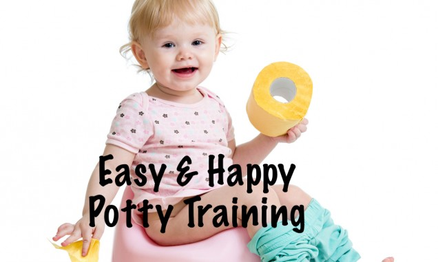 Follow these steps for a happy easy potty training experiene