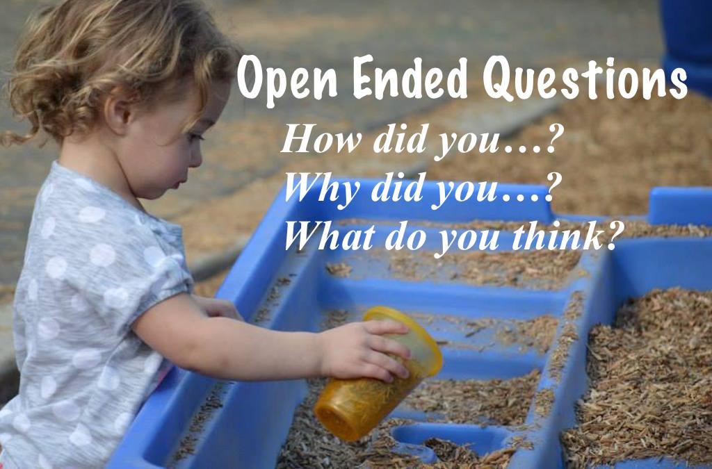 Open ended questions in preschool encourage language development
