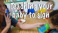 Halsey Schools teaches Baby sign language