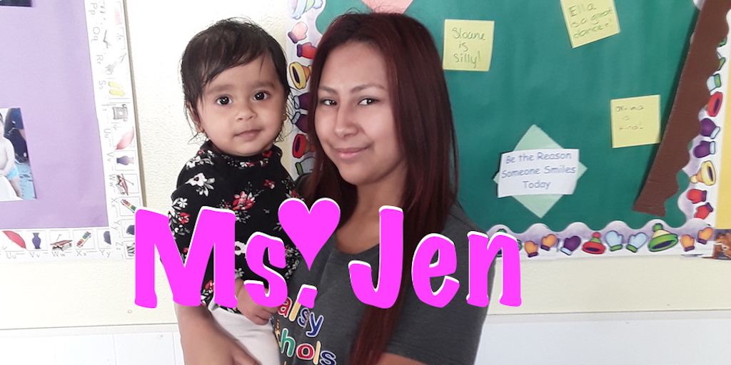 Ms. Jen love to smile laugh and play
