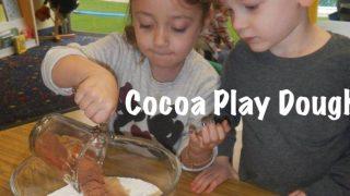 How to make cocoa hot chocolate play dough