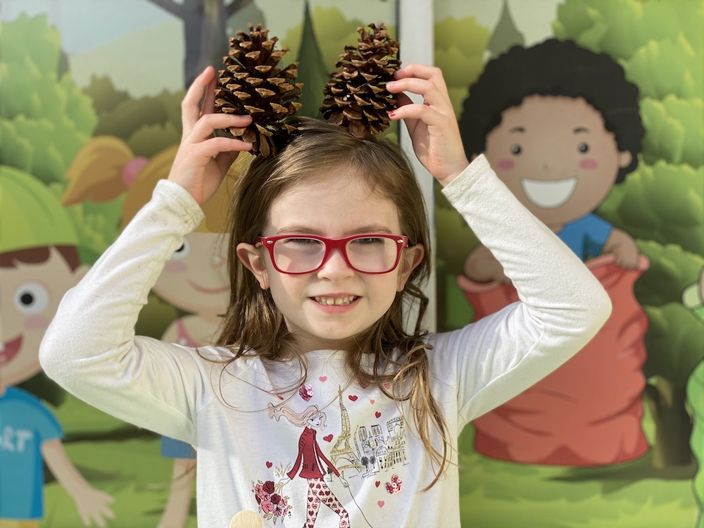 Learning fun with pine cones