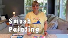 Mother's day painting project Daddies can do
