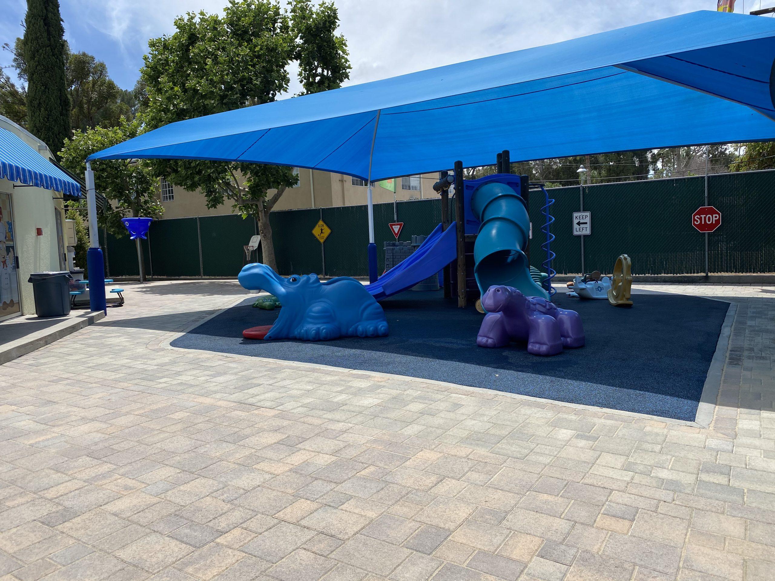 New preschool yard