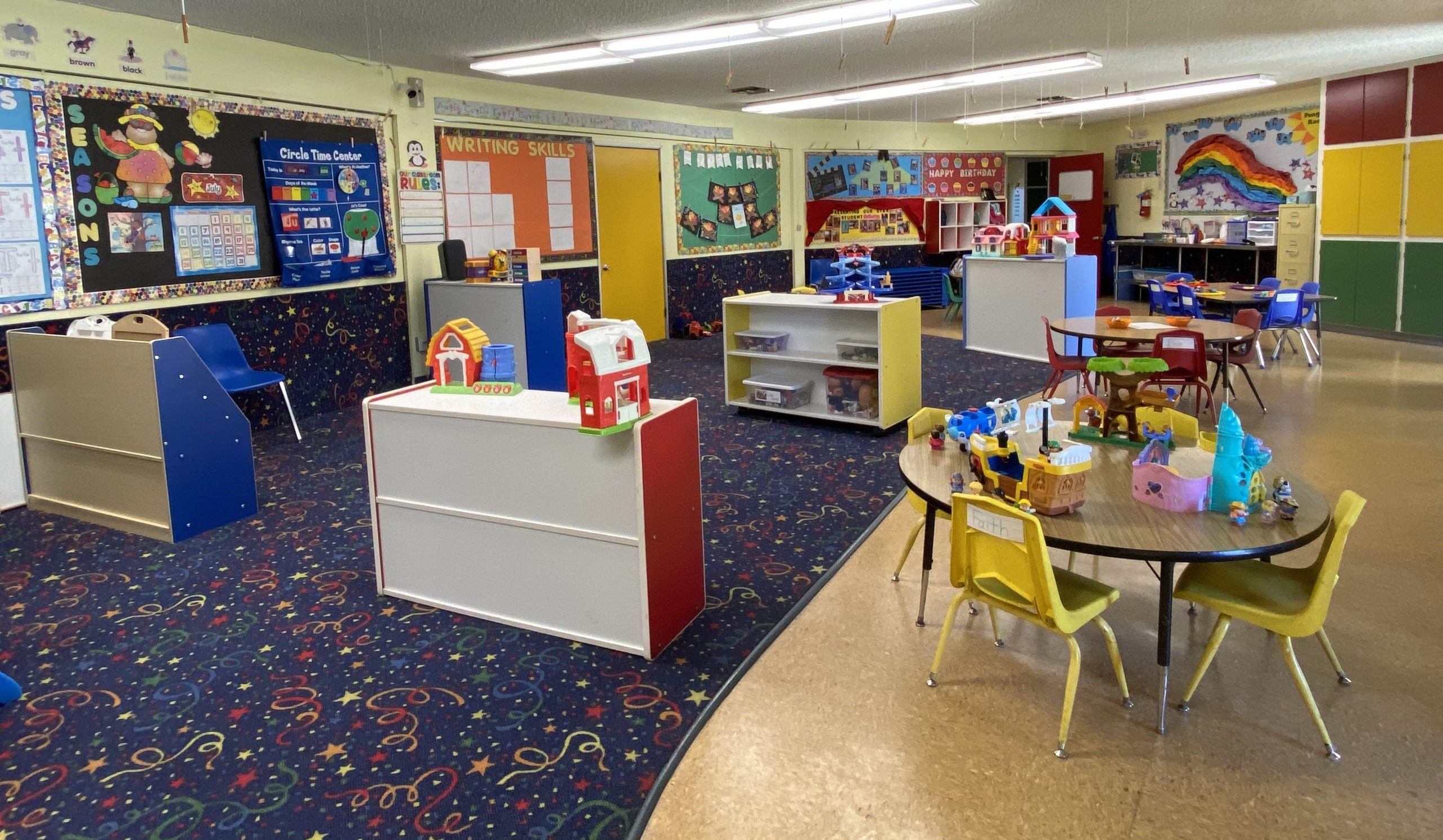 Happy preschool classroom