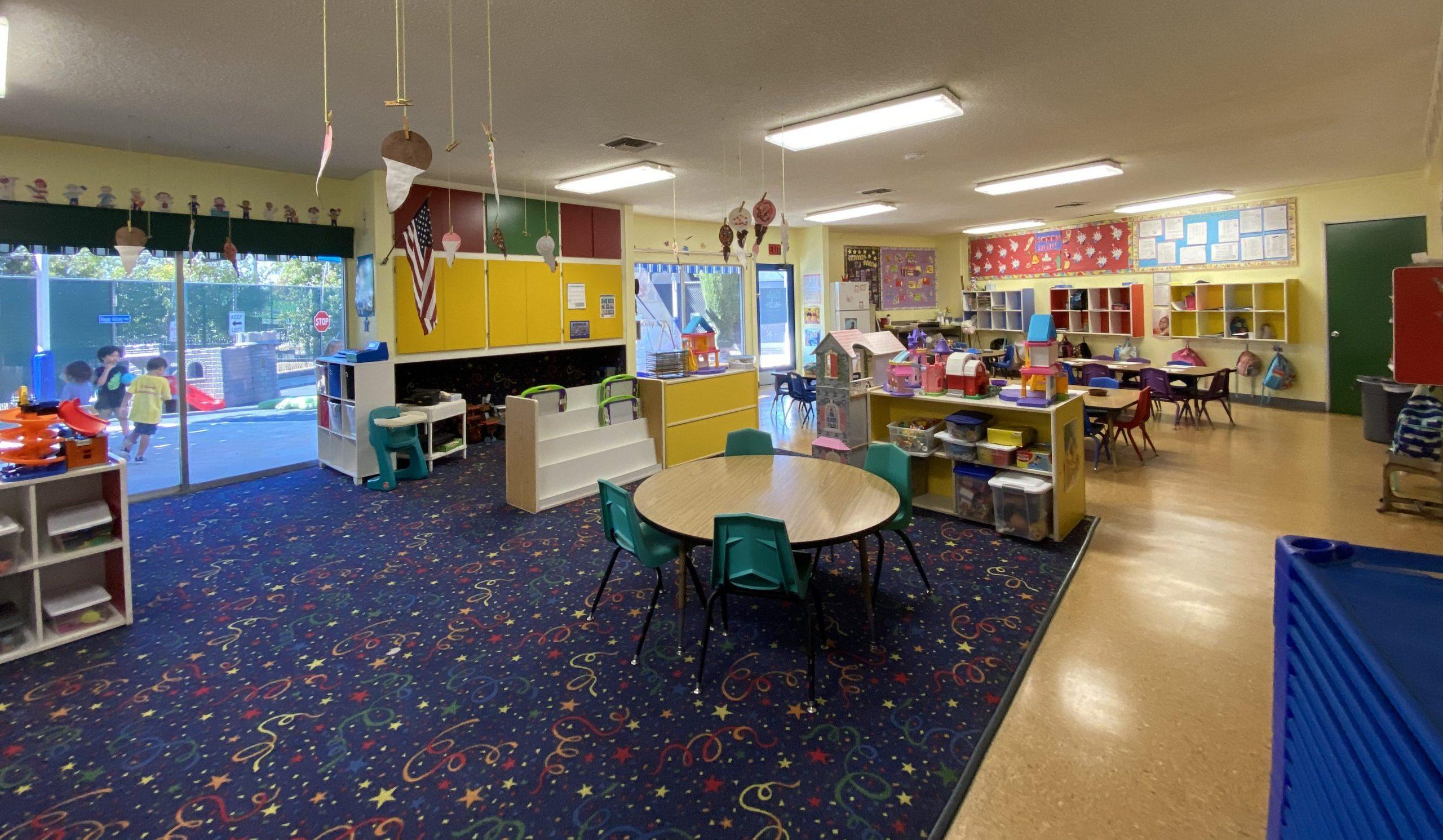 Open bright clean fresh in preschool