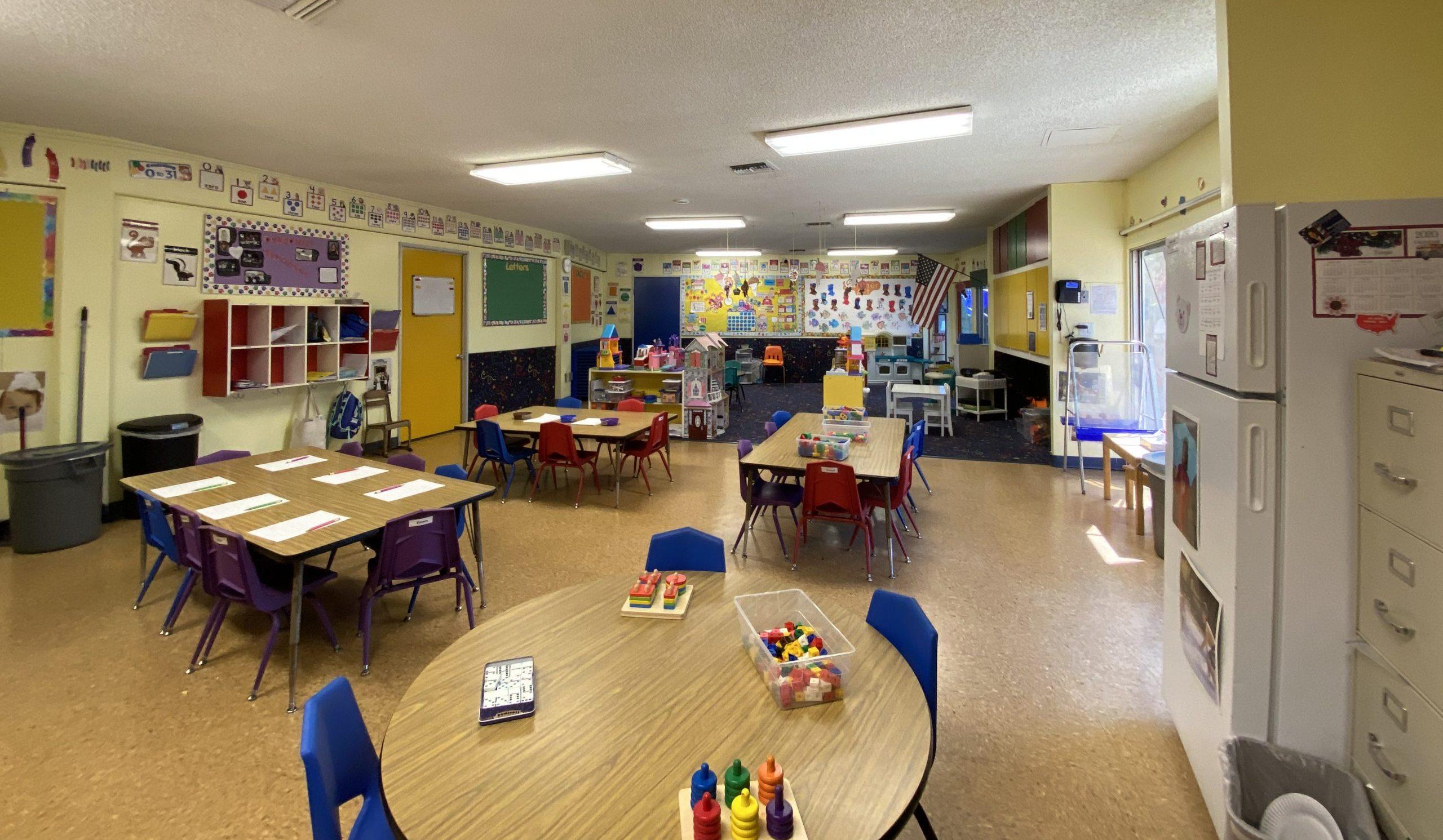Colorful bright preschool