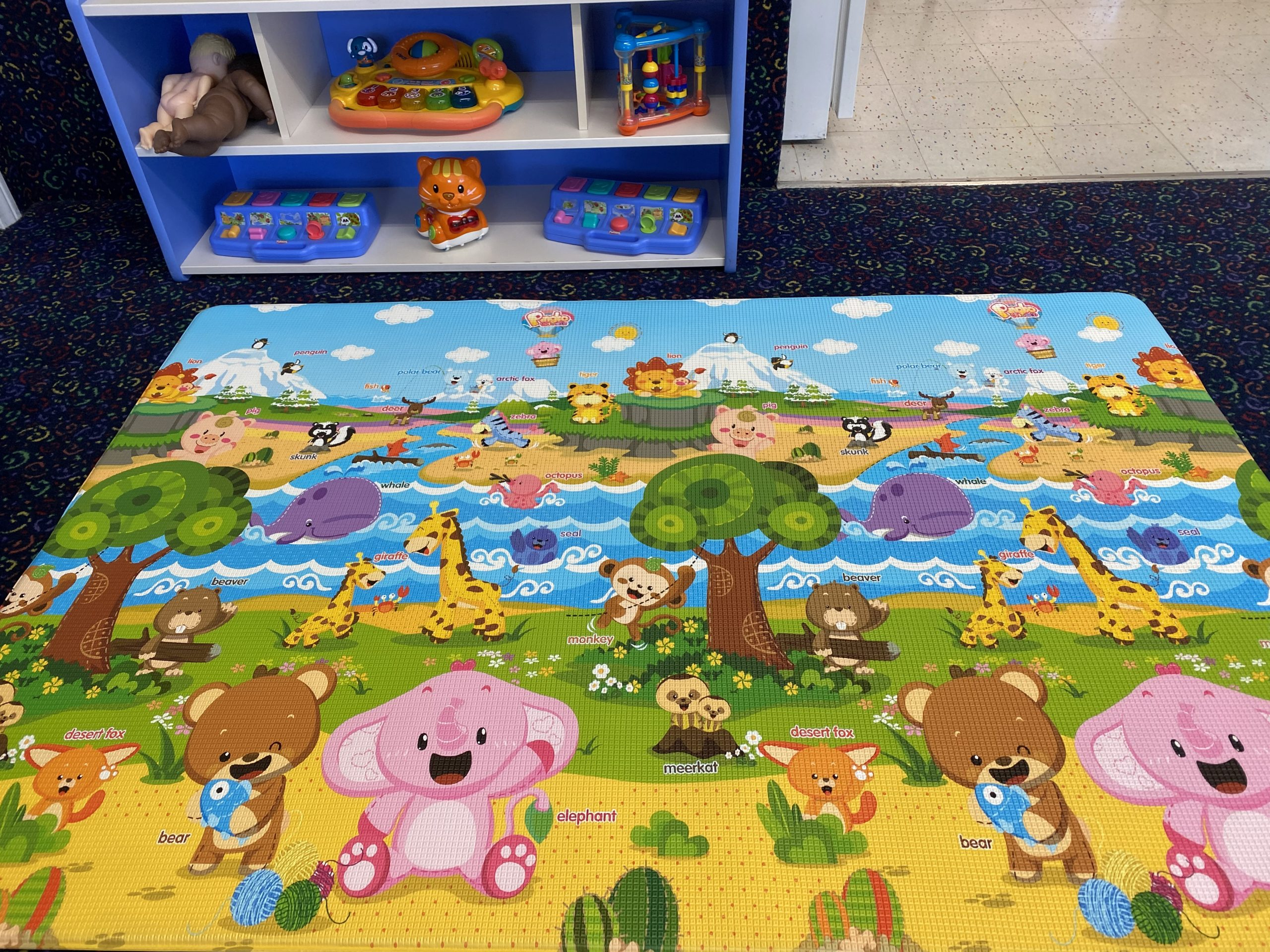 Bright fun play mats and toys
