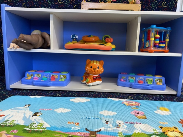 Low Toddler Baby Shelf