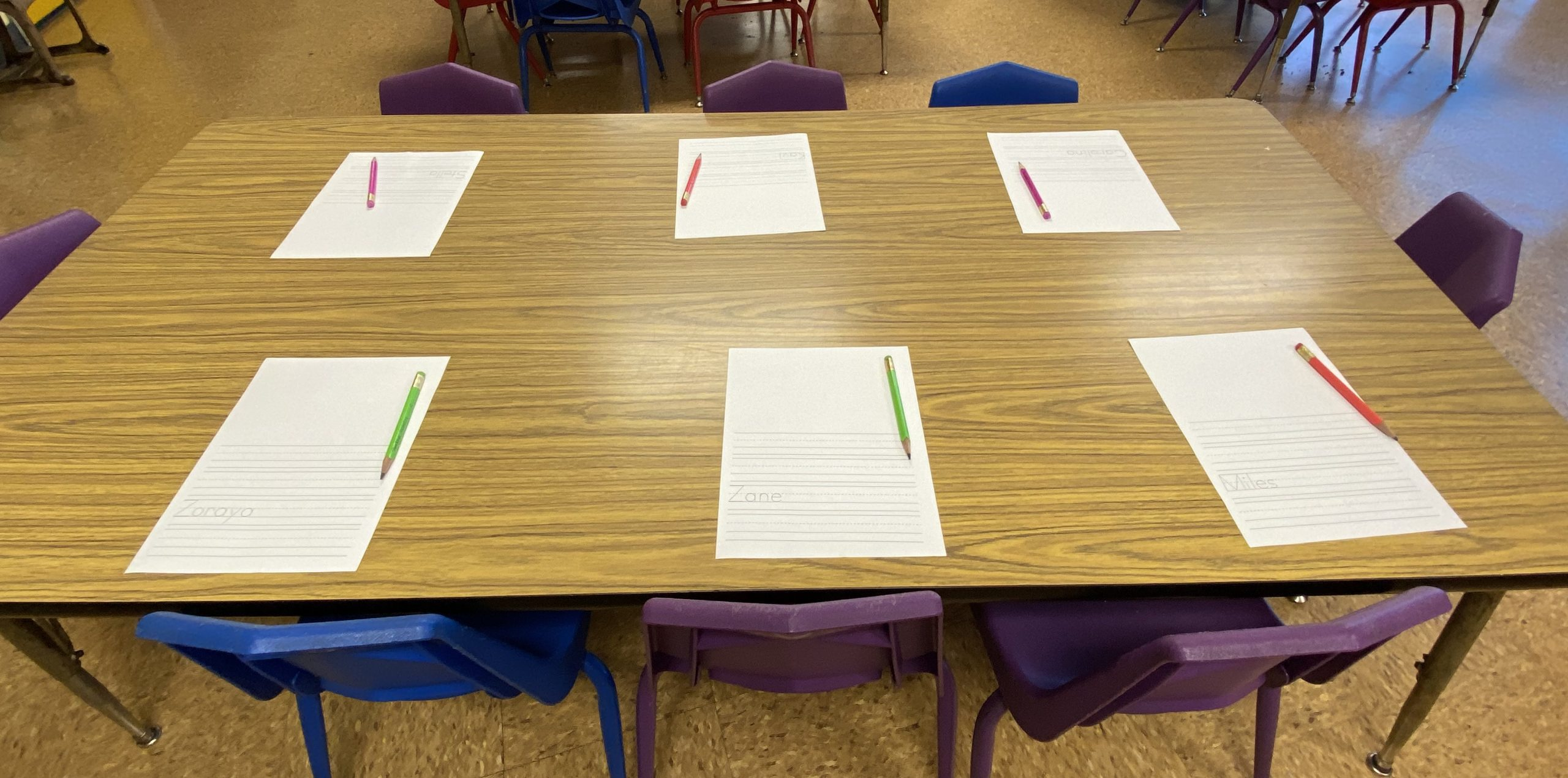Writing and tracing in preschool