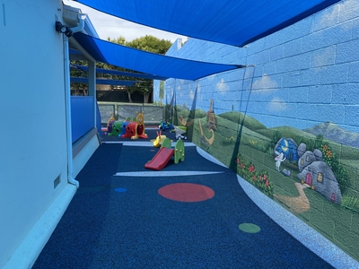 Clean shaded soft play area