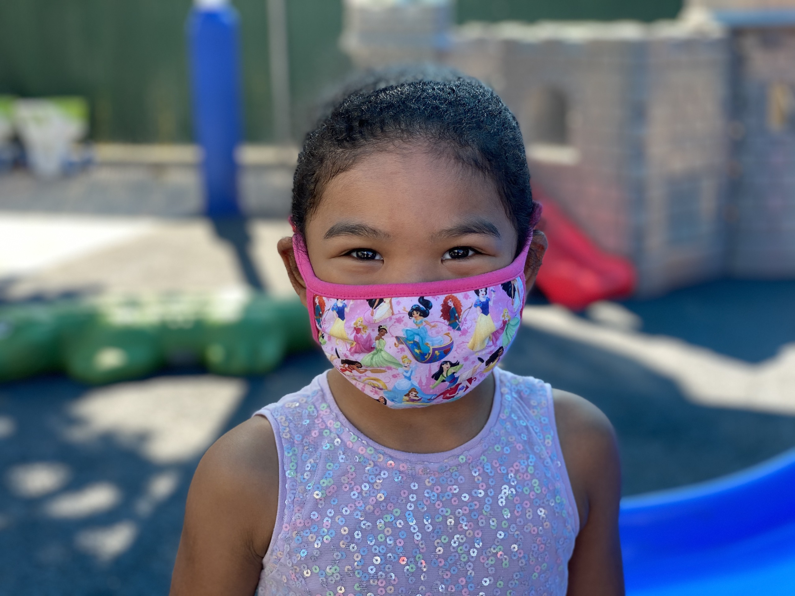Happy Masked Preschooler