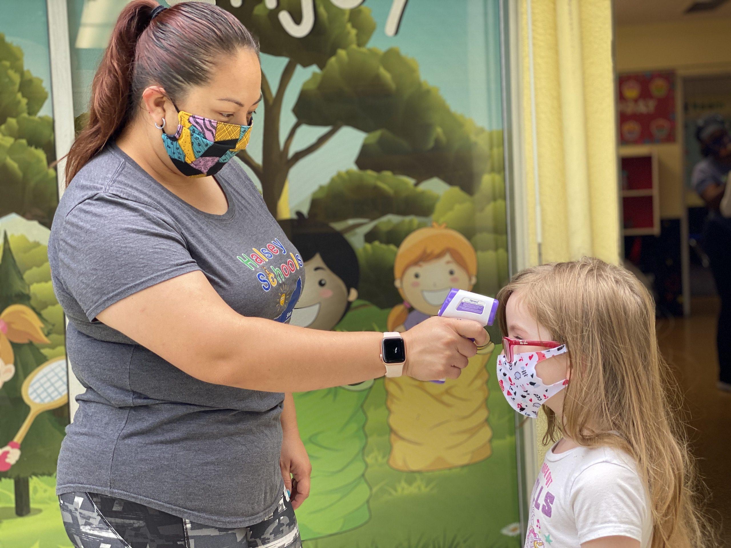 Preschool Entry Illness Symptom Temperature check