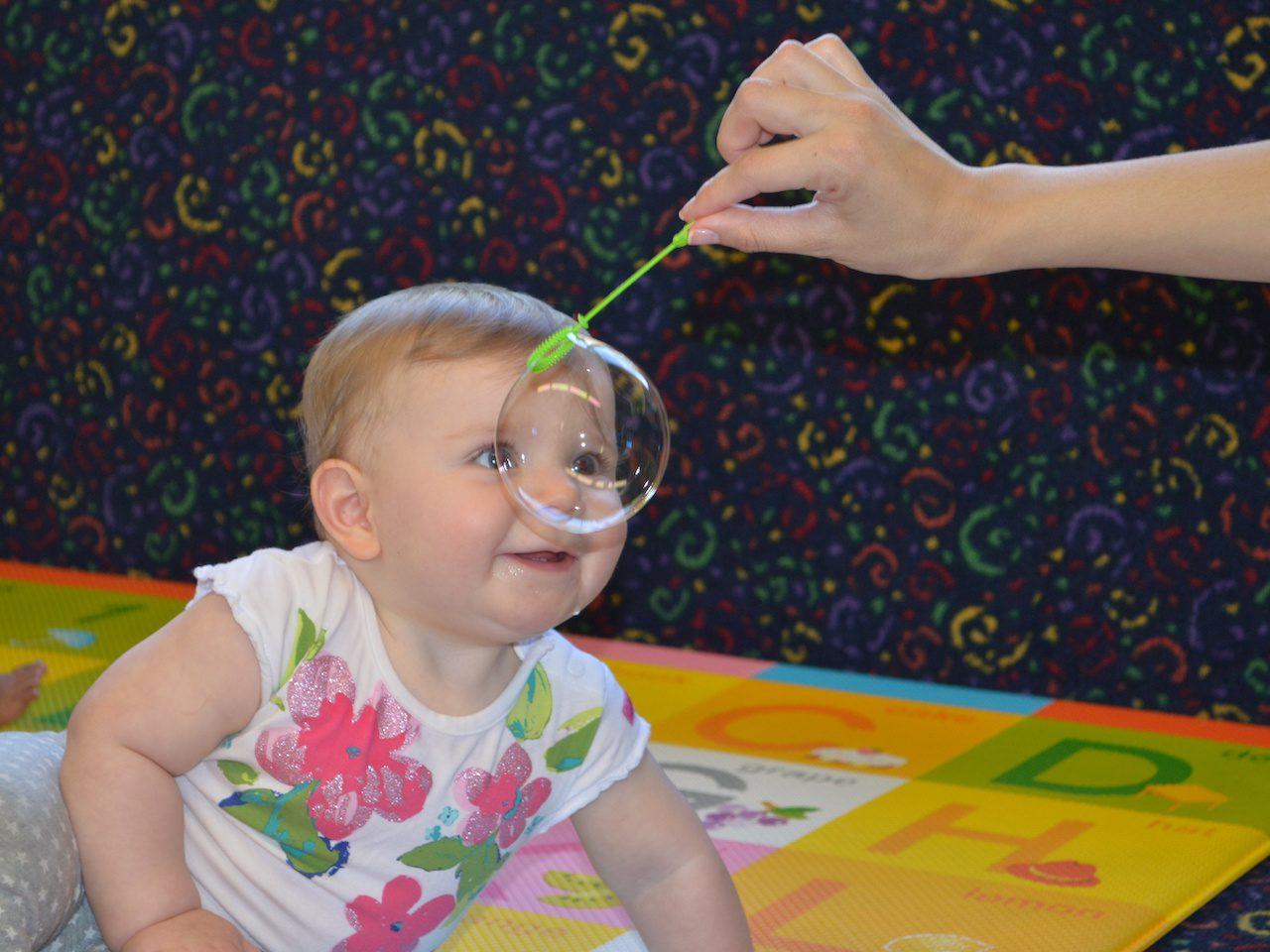 bubble infant halsey schools