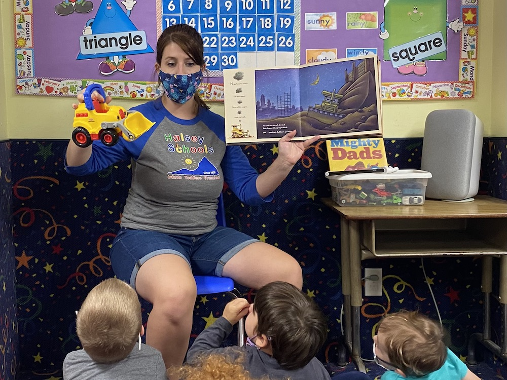 Make reading fun with props and voices